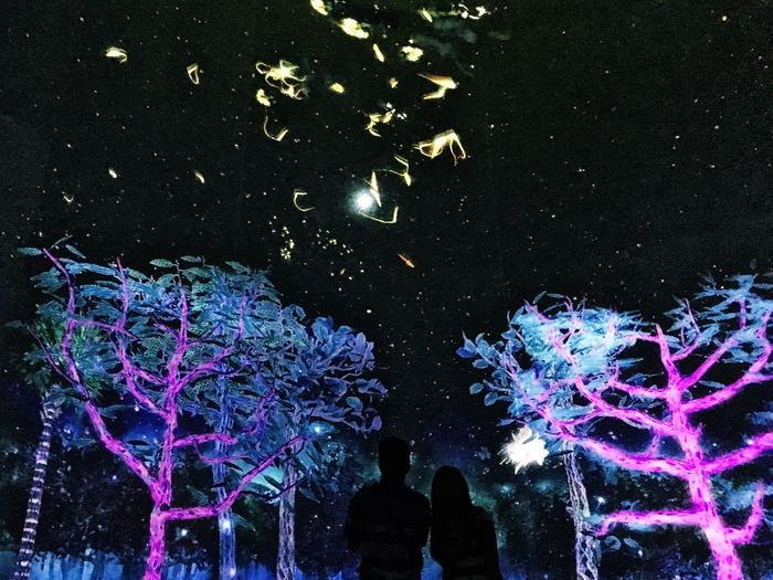 Night changes Real People Leisure Activity Night People Virtual Beautiful Outdoors Indoors  Couple Surrealism Stars Dream Singapore Installation Digital Art Scenery Love EyeEmNewHere Millennial Pink