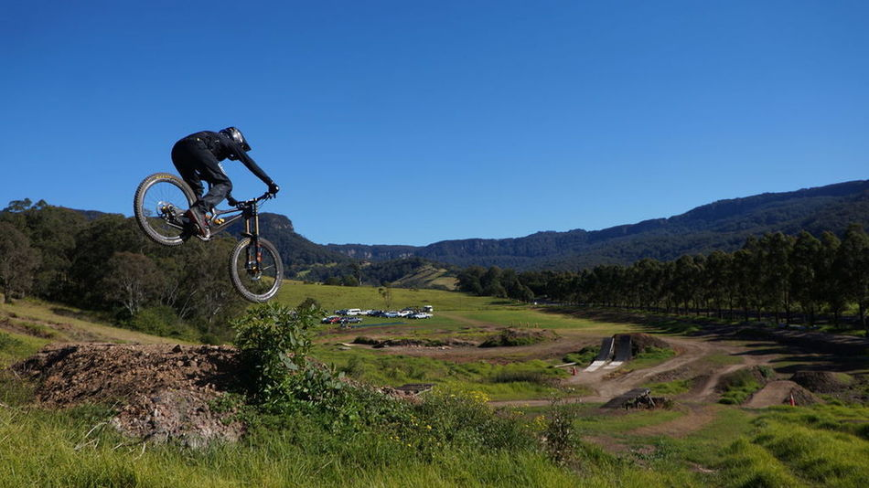Local rider GV Wollongong  Mtblifeandadventure One Person Sportsman Mountain Bike Stunt RISK Leisure Activity Skill