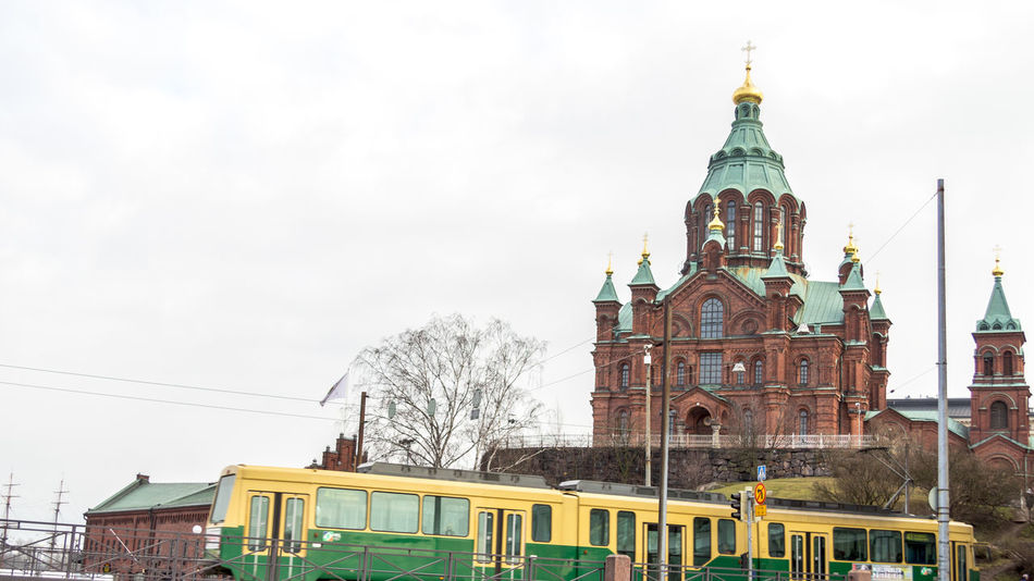 Uspenski Orthodox cathedral in Katajanokka Helsinki Architecture Building Exterior Built Structure Cathedral Church Clear Sky Façade Famous Place Helsinki Helsinki,finland History International Landmark Katajanokka Outdoors Place Of Worship Religion Spirituality My Commute