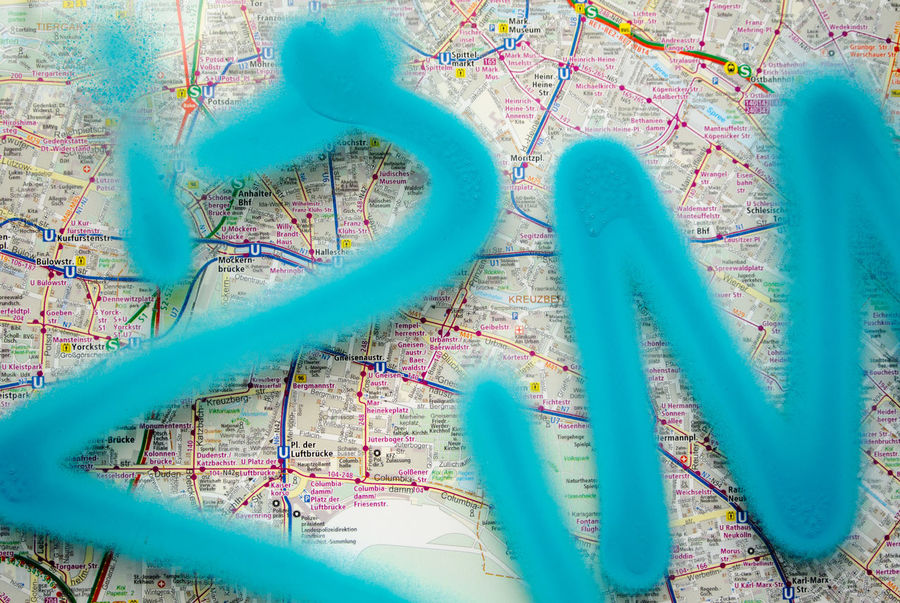 Berlin Photography City Map Close-up Connection Graffiti Map Metro Multi Colored No People Smear Subway