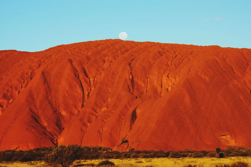 Uluru Australia Kata Tjuta National Park Outback Geology Landscape Moonlight Moon Aboriginal Land Sacred Places