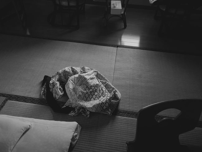 Blackandwhite Monochrome Japanese Culture YUKATA Japanese Hotel Travel High Angle View Indoors  No People Day