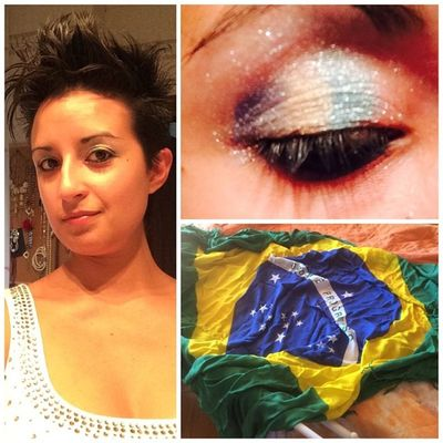 meu Makeup já tá certo Torcida  Forçaneymar ForçaBrasil desde Itália BrasilAlemanha jogapraele