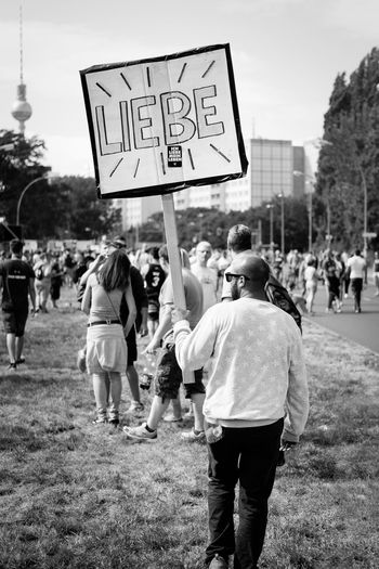 taken at the 'Zug der Liebe' in Berlin. Battle Of The Cities Berlin Berliner Ansichten Black And White Blackandwhite Bw Bw_collection Demonstration Liebe Love Love ♥ Man My Fuckin Berlin People People Photography Person Protest Protesters Schwarzweiß Street Street Photography Streetphoto Streetphoto_bw Streetphotography