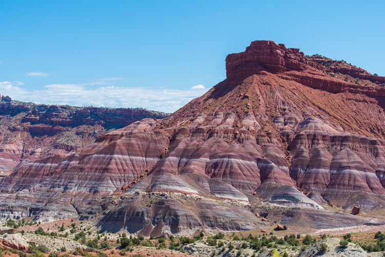 Landscape of banded hillside at paria canyon in grand staircase escalante national monument in utah