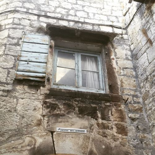 Building Exterior Window Stone Wall Old Town Croatia Stone House