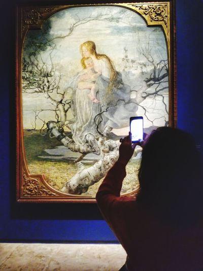 Maternità, Gaetano Previati Palazzo Dei Diamanti Exhibition Art Arte Women Oil Painting Artist's Canvas Fine Art Painting Art Museum Oil Paint Paintings Canvas