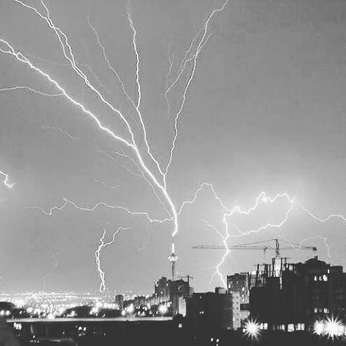 Fear Scary Scare Mad Night Tunther Thunder Thunderstorm Thunderup Thunderstorms Storm Thunderbolt Lighting Tower Millad Skyscraper Skyscrapers Tehran Tehranpic Pic Picture Iran Instagram Instagramer