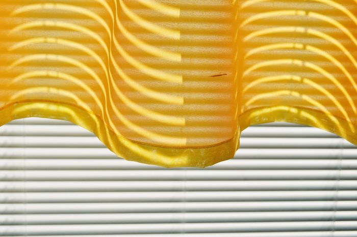 EyeEm Selects Yellow Textured  Pattern Pattern, Texture, Shape And Form Striped Backgrounds Abstract Curtain Curtains Can Be Beautiful Minimal Home Home Sweet Home Art Is Everywhere Point Of View Light And Shadow Shadow Shadow And Light