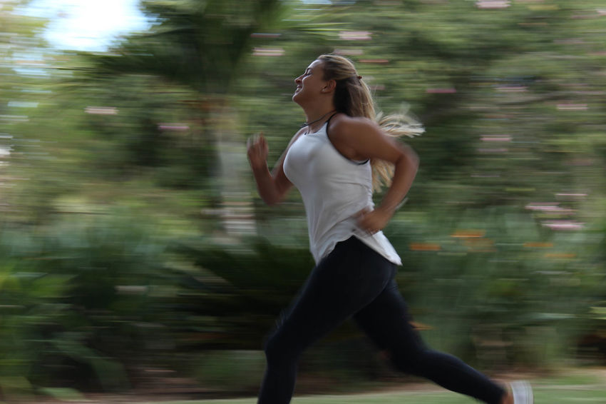 Running woman Blurred Motion One Person Real People Tel Aviv Streets Young Adult Sports Photography