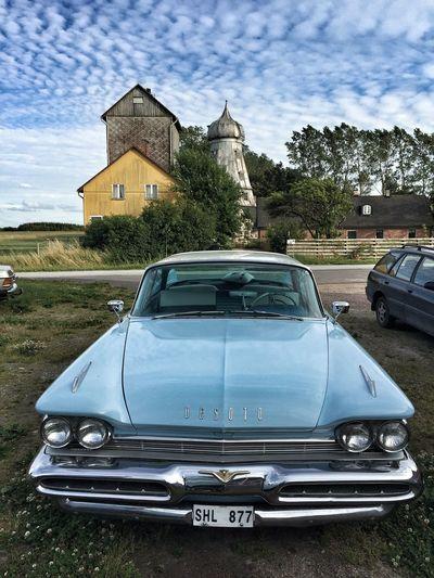 Classic Car DeSoto Blue