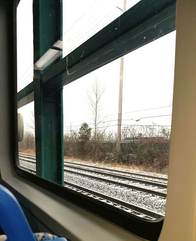 Transportation Window Mode Of Transport Land Vehicle Looking Through Window Train Tracks CLE  Beautiful Winter Photography Winter Wonderland WOW Cool Details Nice Cityscape Perspective Beutiful  Cold Temperature 2017 Outdoor Photography Jrosemarieb