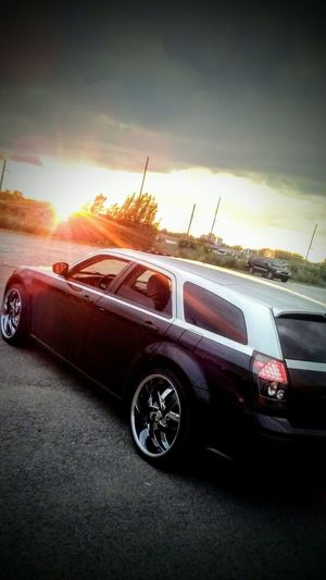 Car No People Sunset Land Vehicle Red Road Outdoors Day Sky Dodge Dodge Magnum Saginaw Mi