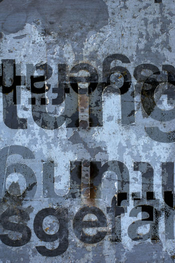Text No People Close-up Communication Western Script Day Metal Outdoors Full Frame Abstract Simple