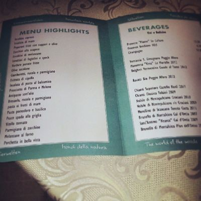 Hapimag 50 Years Menu