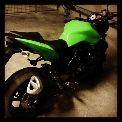 Snart ställa in snyggingen inför vintern :/ Kawasaki Z750  Ninja 2011 Green Winter