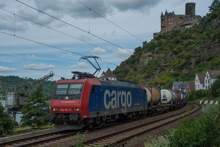 Burg Katz Eisenbahn Railway Rhein Sbb Cargo St. Goarshausen