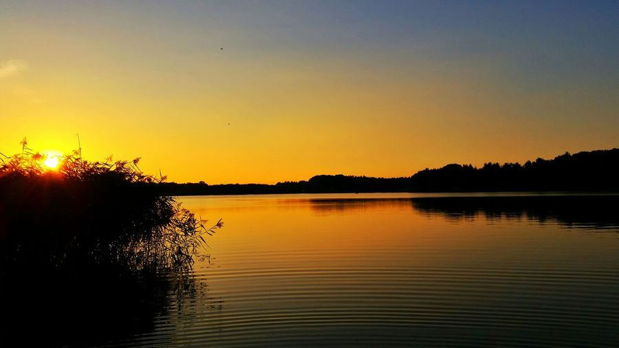Peace And Quiet Golden Hour Sunset_collection Sunset Silhouettes Nature_collection Water_collection This Is Germany