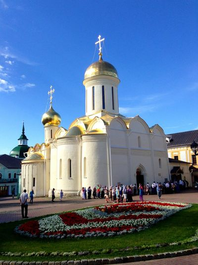 Monastery Orthodox Cristianity Lavra троице-сергиева лавра City Dome Spirituality Religion Crowd Place Of Worship Sky Architecture Building Exterior Historic Memorial