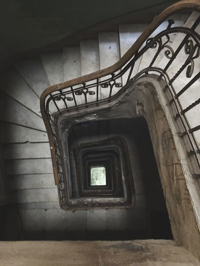 Staircase Steps And Staircases Steps Railing Stairs Built Structure Architecture Spiral Spiral Stairs Hand Rail High Angle View Indoors  No People Spiral Staircase Day The Week End On Eyem EyeEm Selects Theendoftheworld
