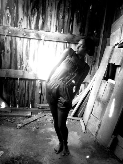 Black And White Portrait Black And White Photography Black And White Collection  That's Me! Abandoned Barn In The Barn Rural Exploration Playing With The Light Barefoot