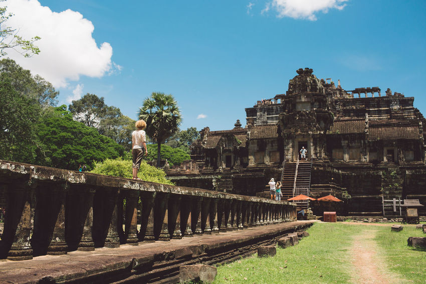Siem Reap Cambodia Angkor Architecture Built Structure Sky History The Past Ancient Travel Building Exterior Travel Destinations Old Ruin Tourism Nature Place Of Worship Tree Old Cloud - Sky Ancient Civilization Religion Archaeology Outdoors Curly Hair Girl
