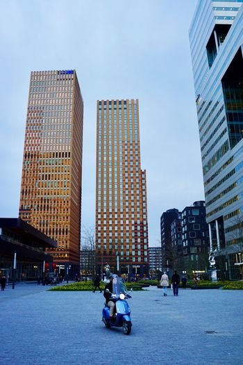 Zuidas Amsterdam Architecture Built Structure Building Exterior Skyscraper City Sky Real People