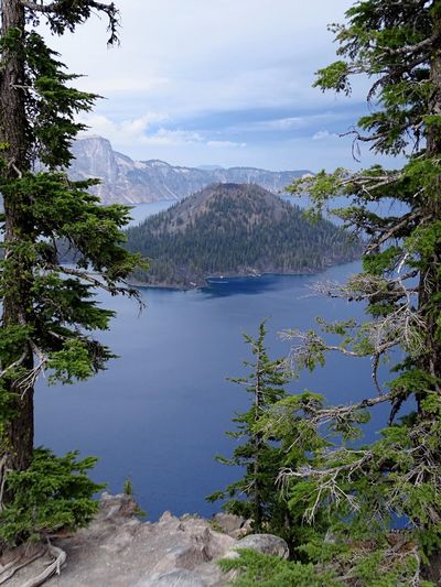 Crater Lake Nationalpark Oregon Beauty Oregon Crater Lake, Oregon Vulkan EyeEmNewHere EyeEm Nature Lover EyeEm Best Shots Volcano USA Crater Lake National Park Crater Lake Mountain Nature Beauty In Nature Water No People Outdoors Scenics Lake Tree Day Tranquility Sky