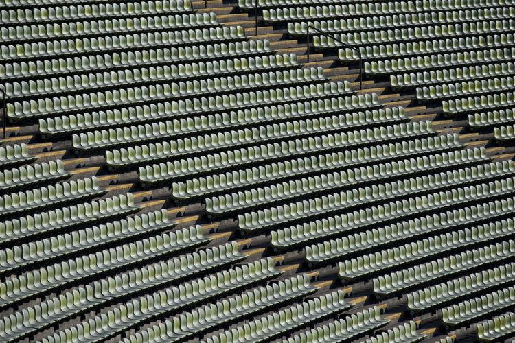Full frame shot of chairs in stadium