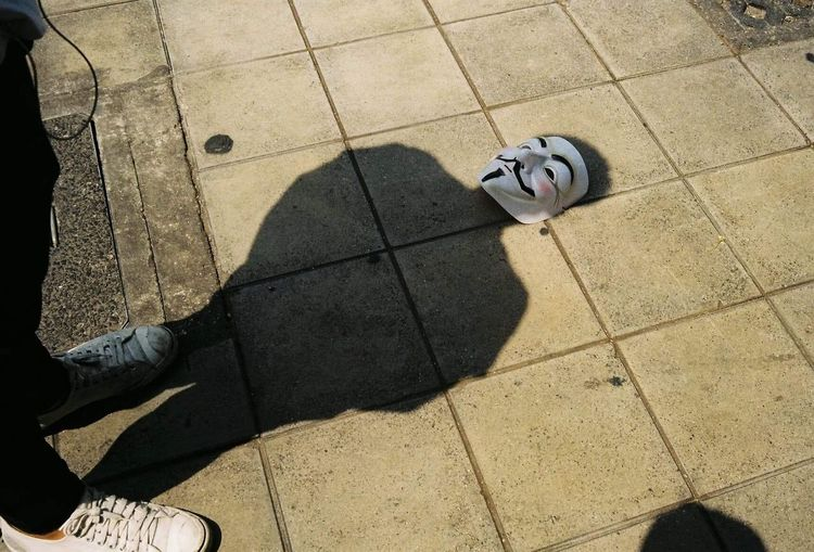 Smile Shadow High Angle View Sunlight Nature Representation Day Real People Creativity Outdoors Lifestyles One Person Paving Stone Low Section Body Part Art And Craft Footpath First Eyeem Photo Visual Creativity