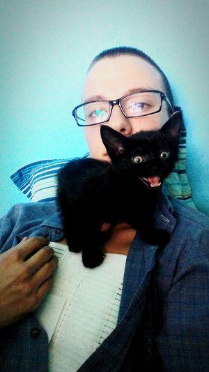 Love <3 First Eyeem Photo Kitten Cat Black Relaxing Recovery