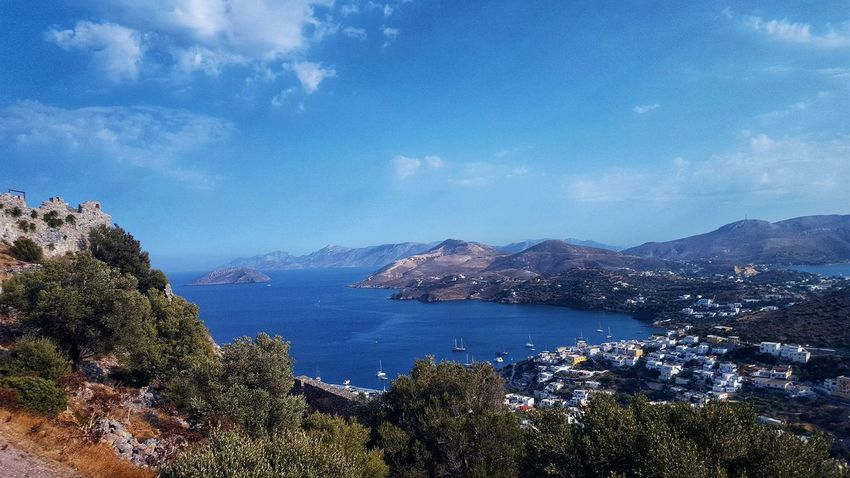 Wiew Wiewing The Sea... Aegean Sea Aegean Islands Ocean Ocean View Blue Blue Sky Blue Ocean Blue Sky Island Greece GREECE ♥♥ Greece Photos Greece Islands Leros Leros Island Leros Greece Mountain Mountain View OceanCity Cloud - Sky Clouds And Sky