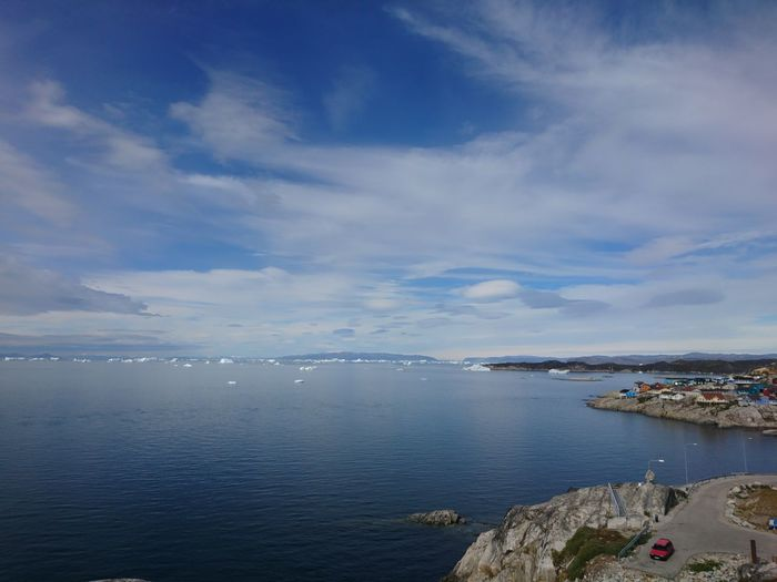 Beautiful City Greenland Ilulissat Landscape_Collection Life Arctic Beauty In Nature Beauty In Nature Building Citylife Cloud - Sky Landscape Landscape_photography Nature No People Outdoors Rock - Object Scenics Sea Seaside Shore Sky Town Water