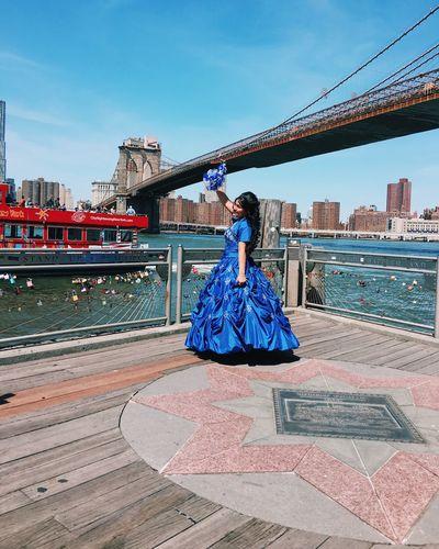 Blue Brooklyn Bridge  Brooklyn Bridge / New York Cityscape Dress Formal Clothing Iphone6s New York City NYC Tourism