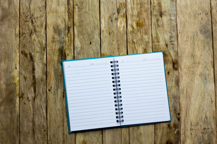 Day Diary No People Note Pad Paper Reminder Spiral Notebook Wood - Material