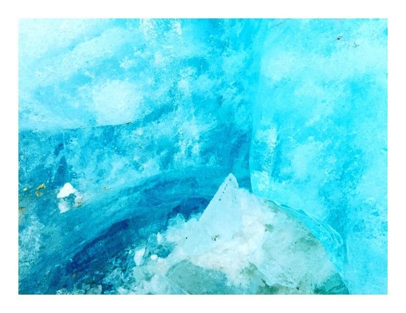 Eisgrotte Furkapass Schweiz Eis Ice Blue Magic Tower Cold Sculpture