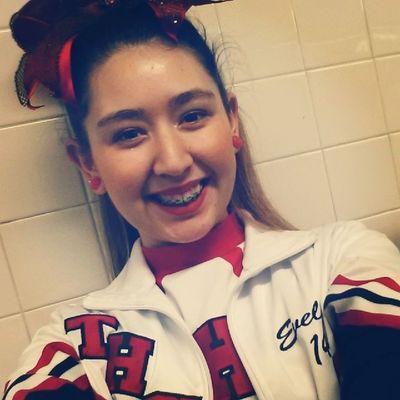 here's another selfie. Makeup Braceface  Cheer Gotoros ! <3