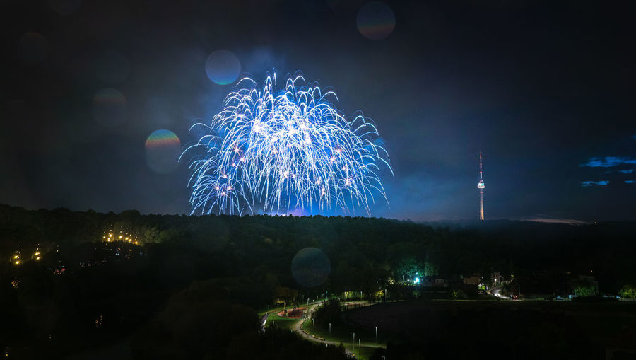Vilniaus fejerija 2018 Celebration Cities At Night City Cityscape Event Fejerija Fireworks Nightphotography TV Tower Vilnius Fejerverkai Firework Display Landscape Long Exposure Nature Night No People Outdoors Sunset