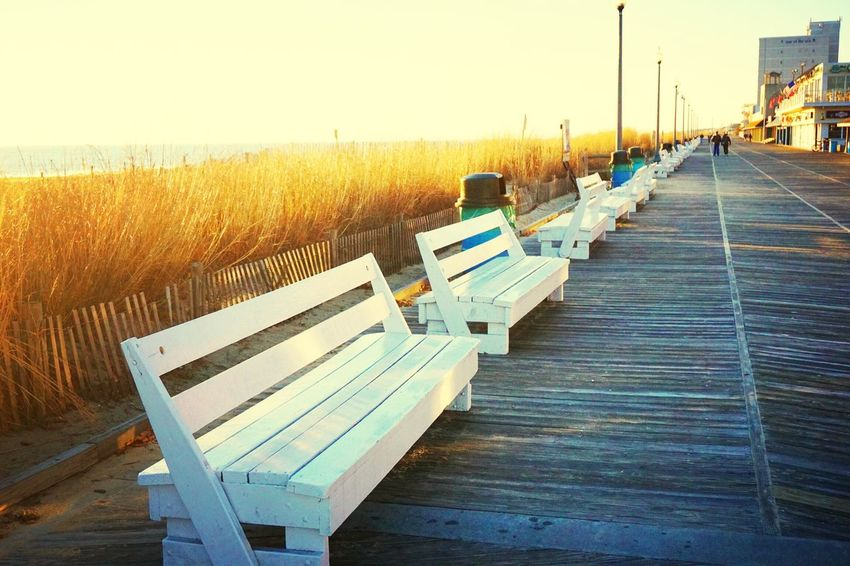 Early morning on the boardwalk. Rehoboth Beach United States