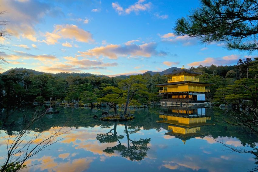Kinkaku-ji Temple By SONY A7R Kinkaku-ji Golden Pavilion Architecture Beauty In Nature Building Exterior Built Structure Cloud - Sky Day Lake Mountain Nature No People Outdoors Reflection Scenics Sky Tranquility Tree Water Waterfront