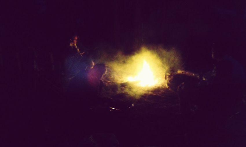 Caster Fire Night Conversations Near Fire Conversation With A Friend Closer Sukholuch'ye Ukraine