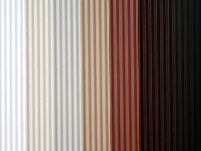 Corrugated Iron Color Bands Variation Colours Striped Concrete Metal - Material Texture Textures Photography Full Frame