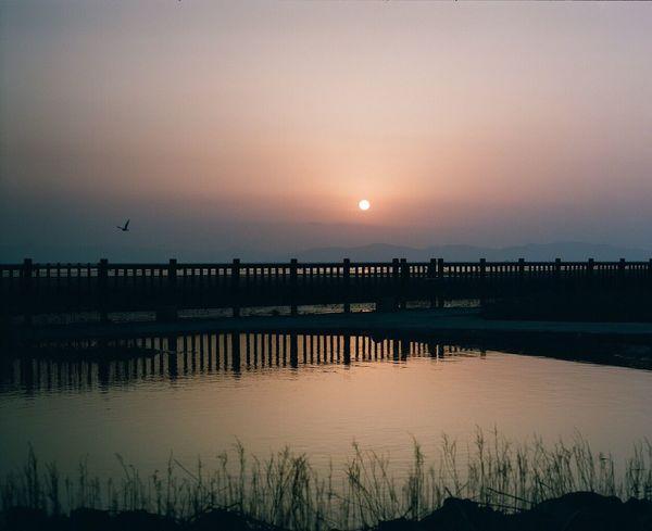 優しいココロを Sunset Reflection Film Photography 120 Film PENTAX67 Filmcamera EyeEm Best Shots Pro400H Sunsetporn Sky_collection