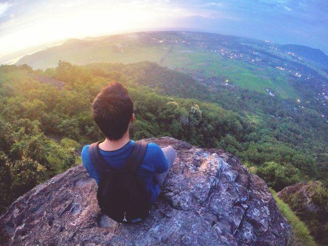 Sometimes. We need to be alone Hill Hills Sunset Alone Watching The Sunset Enjoying Myself Lombok Explorelombok