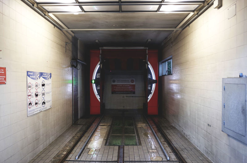24h 24h Autumn Autumn Colors Car Wash Car Washing Diminishing Perspective Empty Empty Places Entrance Entryway Indoors  Narrow Rainy Days Service Service Station Text The Way Forward Wet