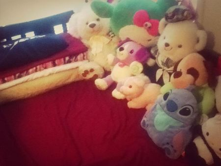 I share my bed with alot of cuties