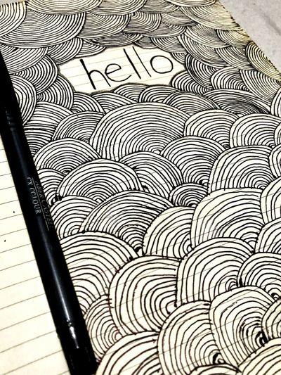 heeeellllooo Doodle Hello World Doodleart Expressing Through Art Zentangle No People Indoors  Close-up Day