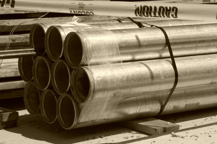 Construction Site Pipe - Tube Unfinished Work... Construction Industry No People Sepia_collection Sepia Photography Sepia Shinny Day Pipe Metalpipe Unfinished Metal Inprogress Construction Construction Work