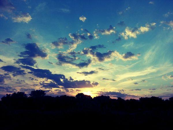 Sunset from my backyard. Beautiful Sunset Colors WOW