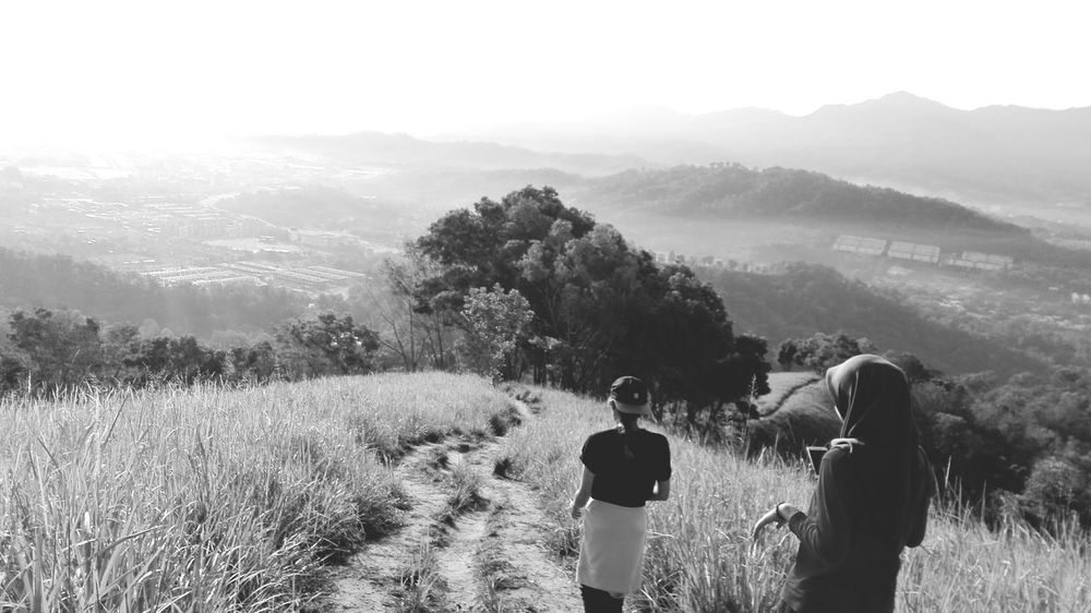 Going back to where we belong, Hanging Out with Gansau Friends in Black And White theme. at Bukitgundul Sabah Northborneo EyeEm Nature Lover